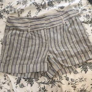 Loft Linen Striped Shorts
